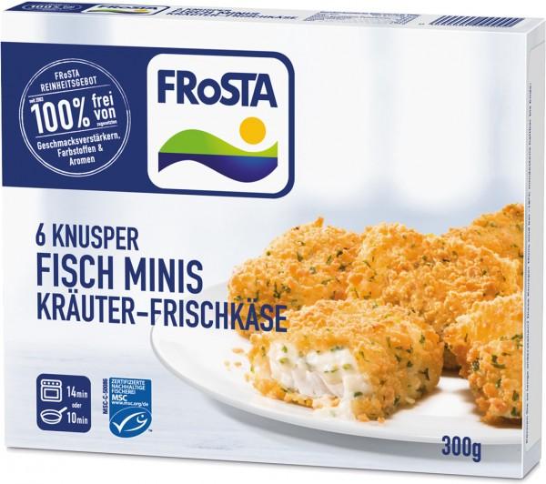 FRoSTA 6 Knusper Minis Kräuter-Frischkäse (300g Packung)