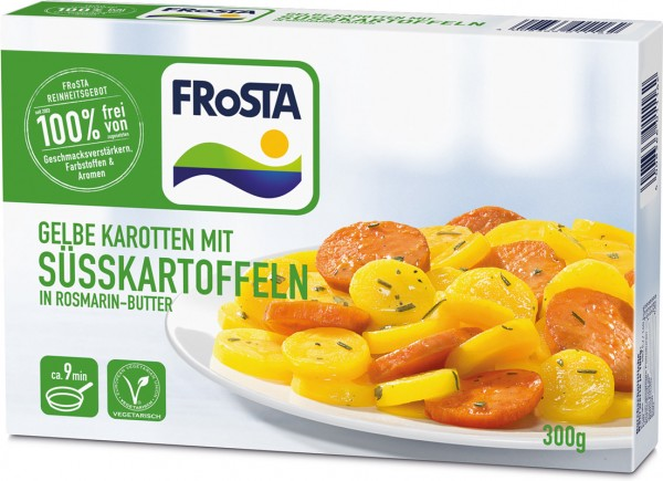 FRoSTA Süßkartoffeln in Rosmarin-Butter (300g Packung)
