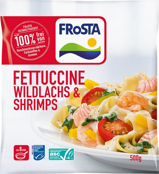 Fettuccine Wildlachs & Shrimps (500g)