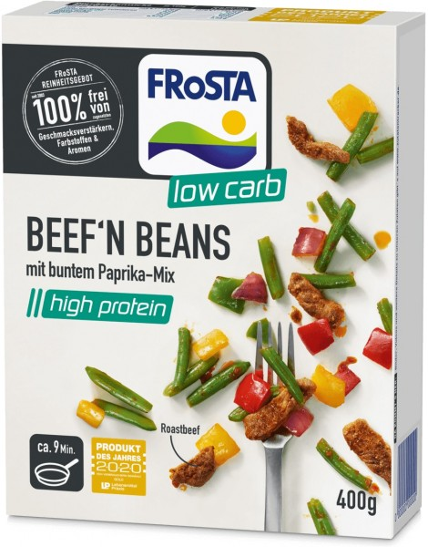Beef 'n Beans mit buntem Paprika-Mix (400g)