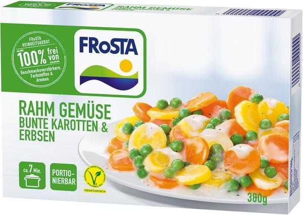 FRoSTA Rahmgemüse Bunte Karotten und Erbsen (380g)