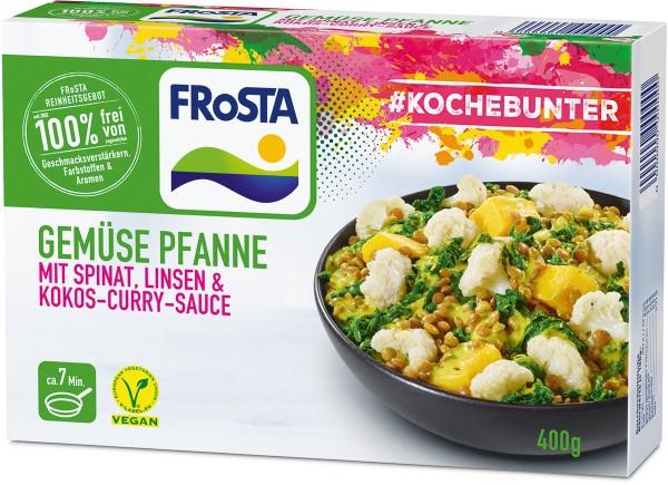 FRoSTA Gemüse Pfanne mit Spinat & Linsen (400 g)