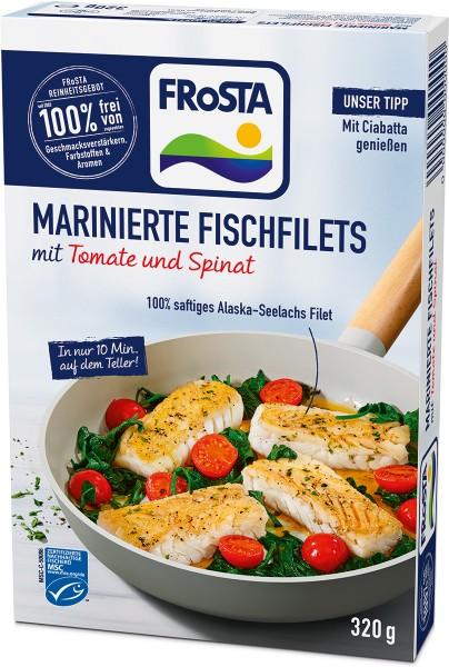 FRoSTA Marinierte Fischfilets mit Tomate und Spinat - Packshot