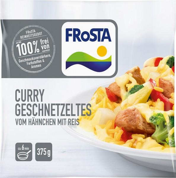 FRoSTA Curry Geschnetzeltes vom Hähnchen mit Reis (375g)