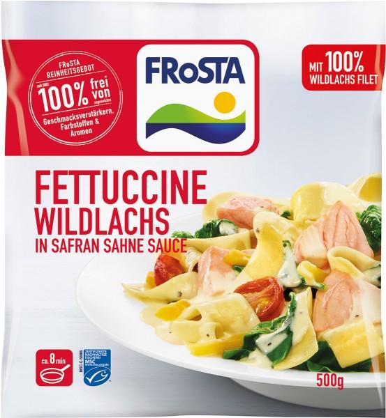 FRoSTA Fettuccine Wildlachs in Safran Sahne Sauce (500g)