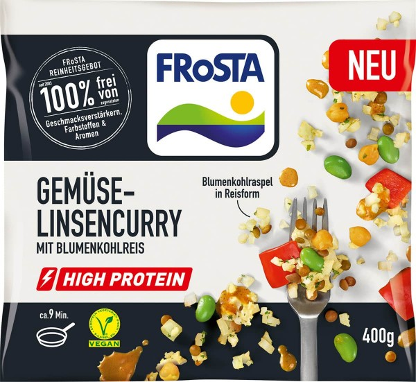 High Protein Gemüse-Linsencurry 400g