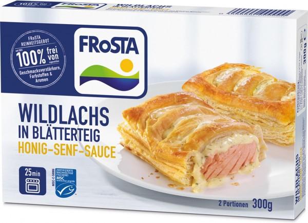 Wildlachs in Blätterteig & Honig-Senf-Sauce (300g)