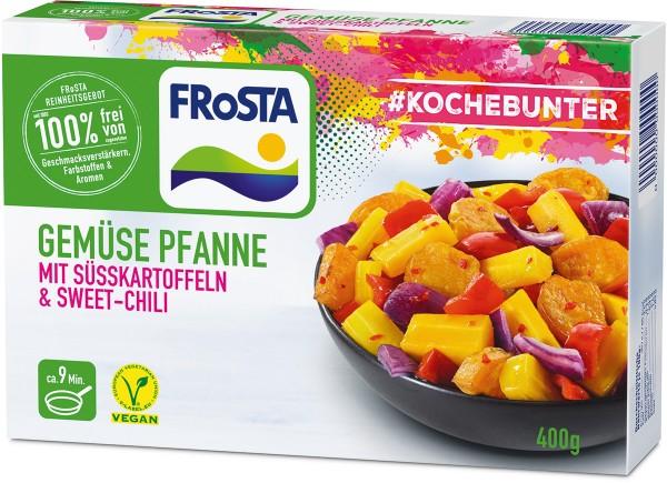 FRoSTA Gemüse Pfanne mit Süßkartoffeln & Sweet-Chili (400 g)