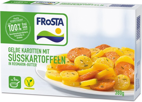 FRoSTA Süßkartoffeln in Rosmarin-Butter (380g Packung)