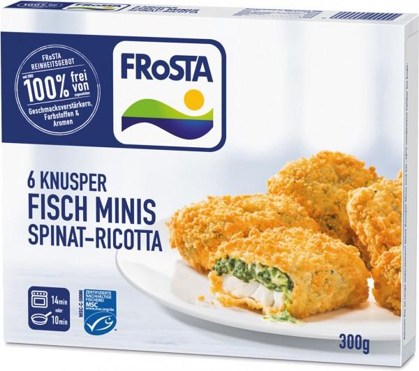 FRoSTA 6 Knusper Minis Ricotta Spinat (300g Packung)