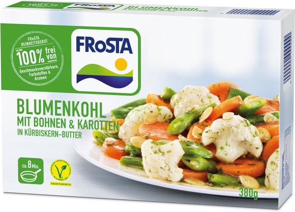 FRoSTA Blumenkohl mit Bohnen & Karotten in Kürbiskernbutter (380g)