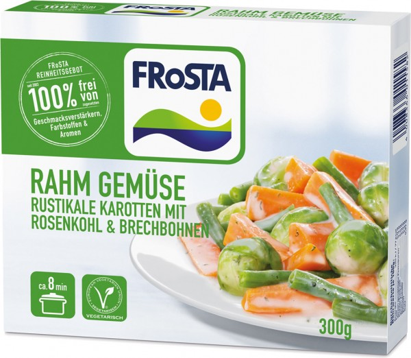 FRoSTA Rahm Gemüse Rosenkohl & Karotten (300g)
